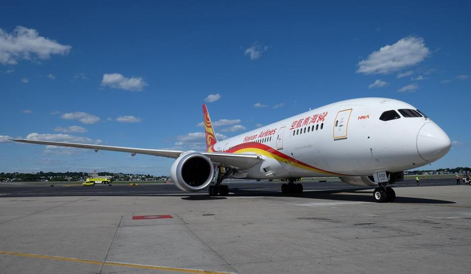Hainan Airlines currently operates a nonstop flight between Boston and Beijing, which launched in June.