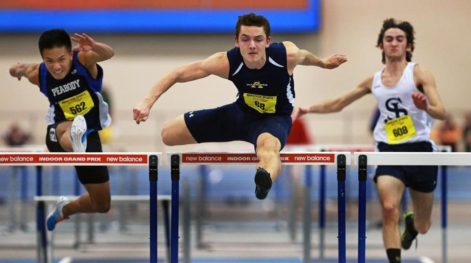 Sebastian Silveira won the All-State hurdles title in 7.57.