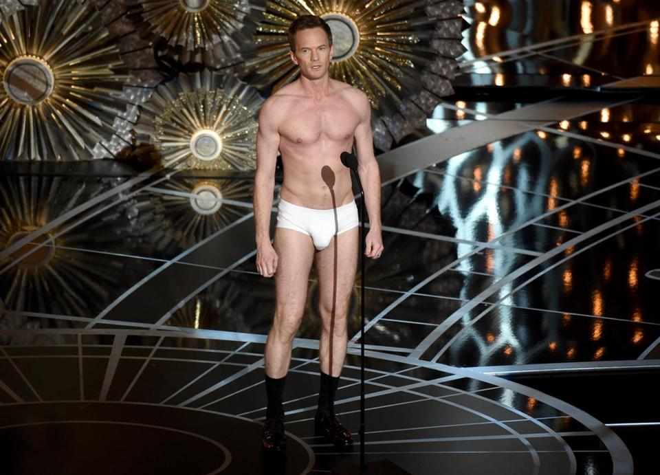 "At one point, host Neil Patrick Harris stood on the stage in his tighty whities, announced ""acting is a noble profession,"" and held the audience in the palm of his hand."
