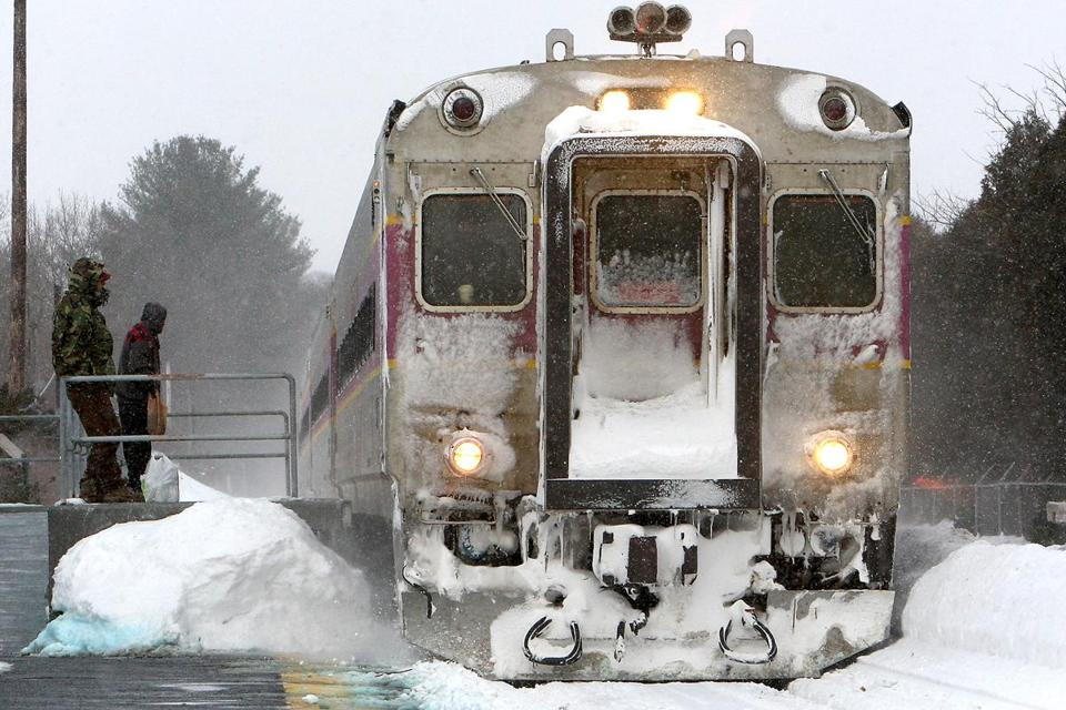 Passengers waited as a commuter rail train pulled into the North Beverly station in Beverly last week.