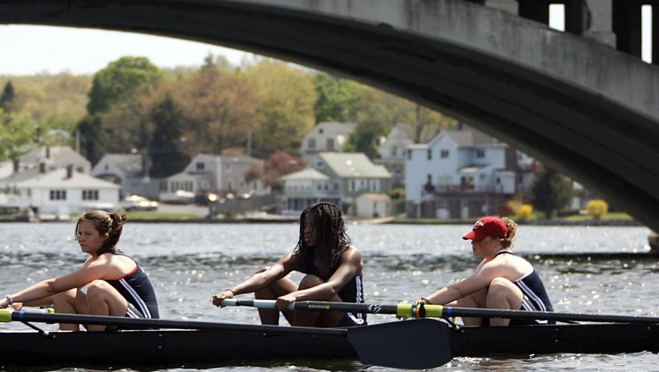 Rowers On Lake Quinsigamond