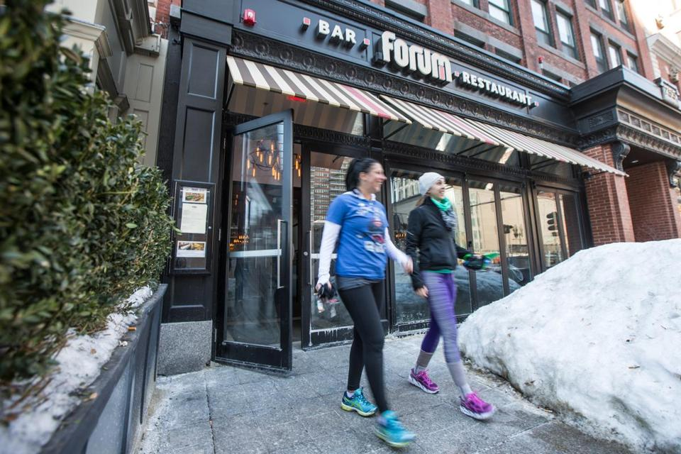 Patrons Departed Forum Restaurant Saay During Its Last Day Of Business On Boylston Street In Boston