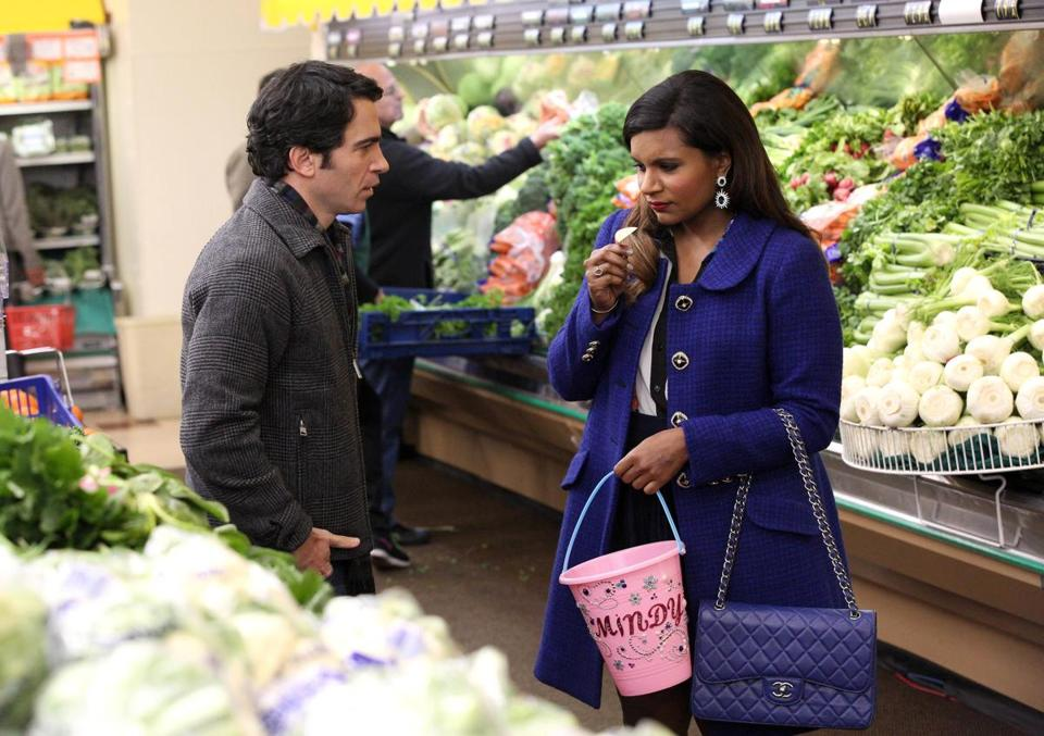 "Chris Messina and Mindy Kaling in ""The Mindy Project."""