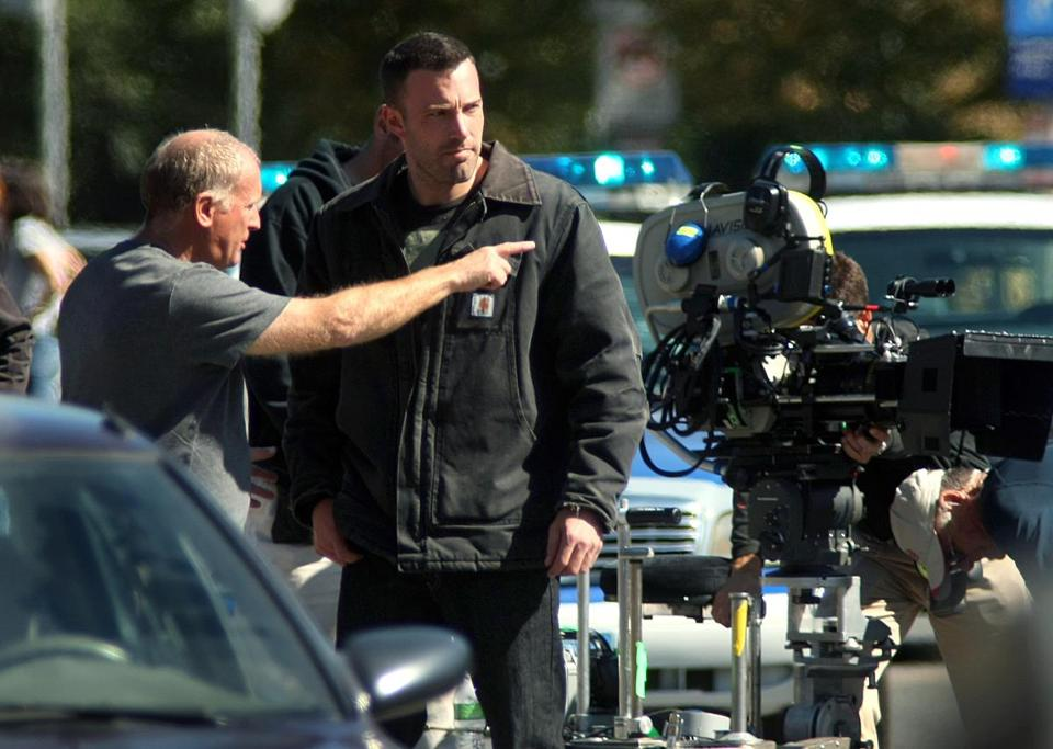 "Ben Affleck filming ""The Town"" in 2009."