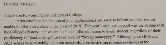 Harvard Application,what are they looking for?