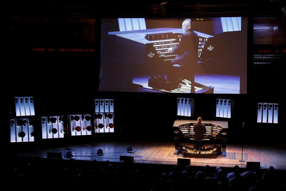Cameron Carpenter performed on his custom digital organ in Cambridge earlier this year.