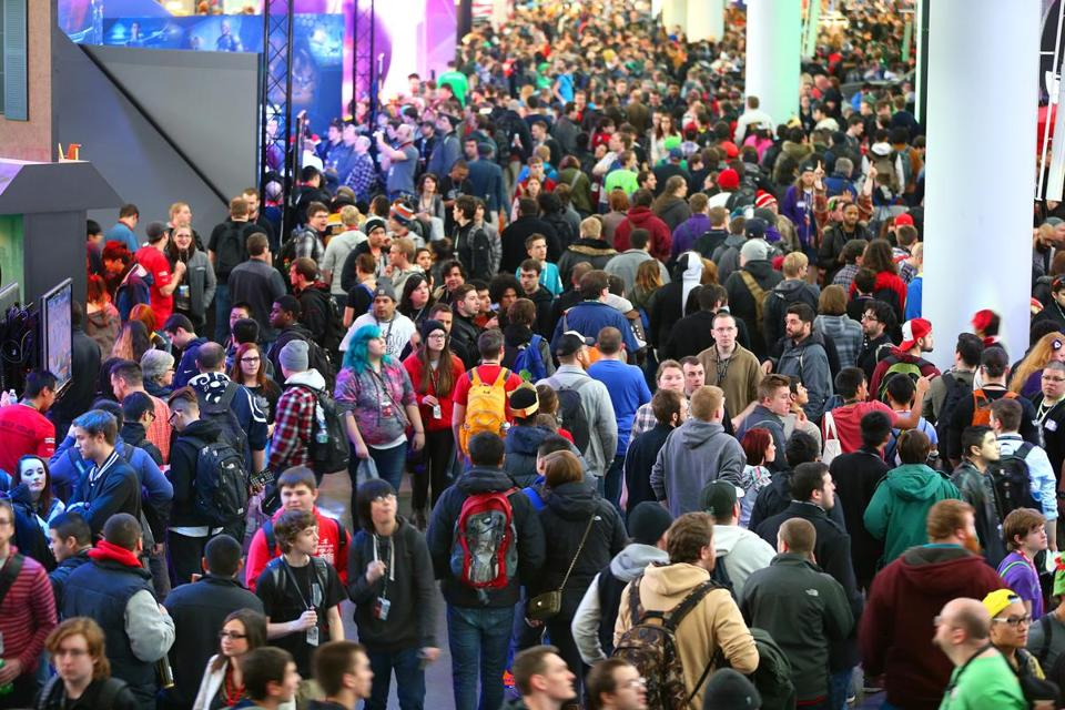 The huge PAX East convention was held at the Boston Convention and Exhibition Center.
