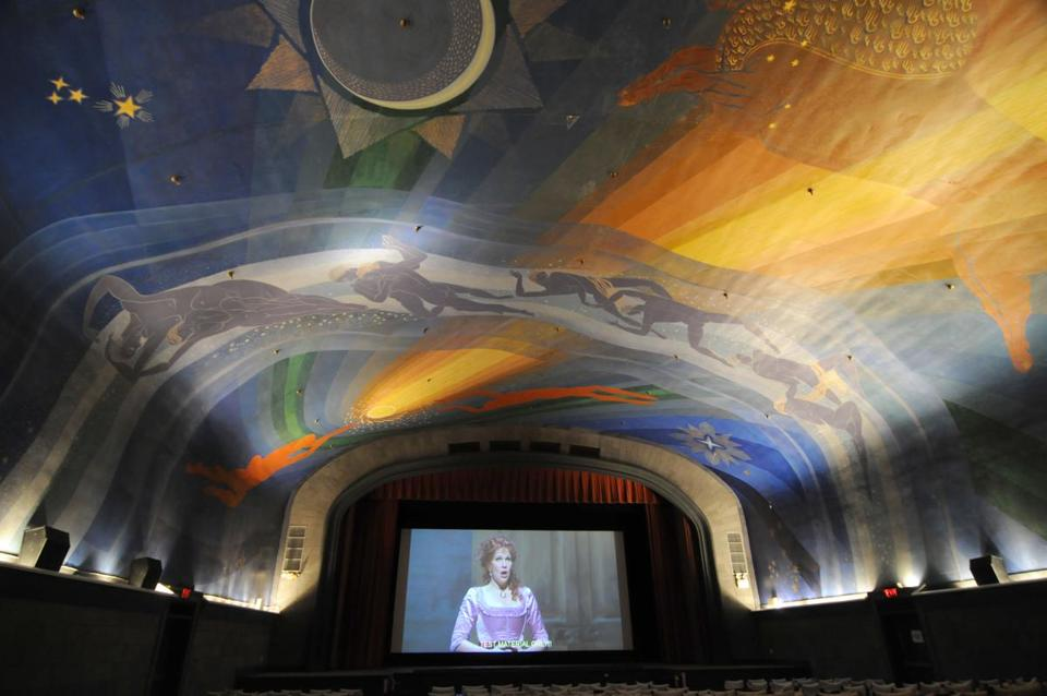 22playhouse - Rockwell KentÕs heavenly mural is the Cape CinemaÕs signature. (Steve Heaslip /Cape Cod Times)