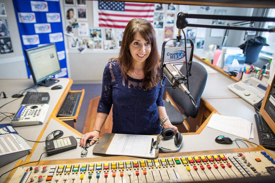 03/04/2015 BOSTON, MA DJ Carolyn Kruse (cq) broadcasts from WKLB in Boston. (Aram Boghosian for The Boston Globe)