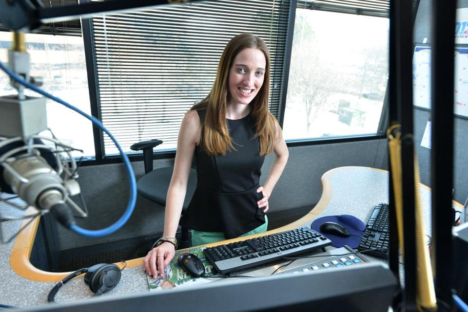 Jessica Callahan, mid-day host. host on Pop Country station WBWL, 101.7. Josh Reynolds for The Boston Globe (Magazine, helman)