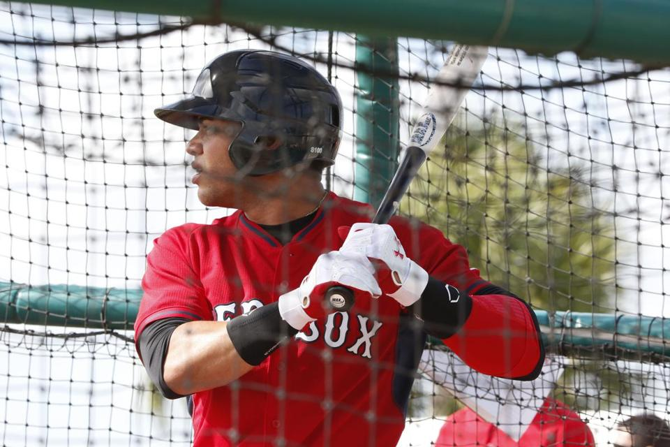 Yoan Moncada practiced at spring training in Fort Myers Friday.