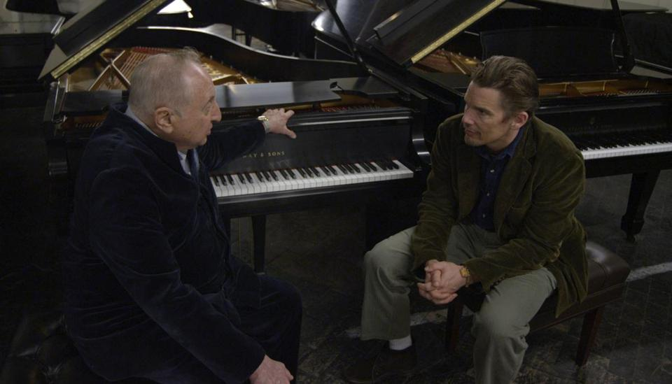 "Ethan Hawke (right) with Seymour Bernstein in ""Seymour: An Introduction,"" which Hawke directed."