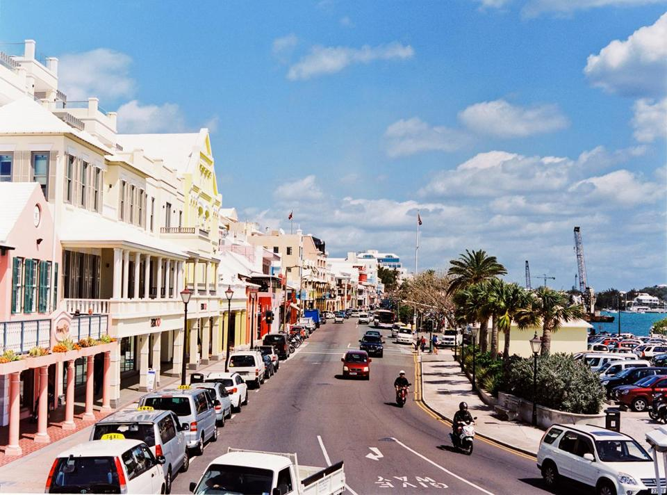 The self-governing British island territory of Bermuda has abolished same-sex marriage. Above, Bermuda's capital, Hamilton.