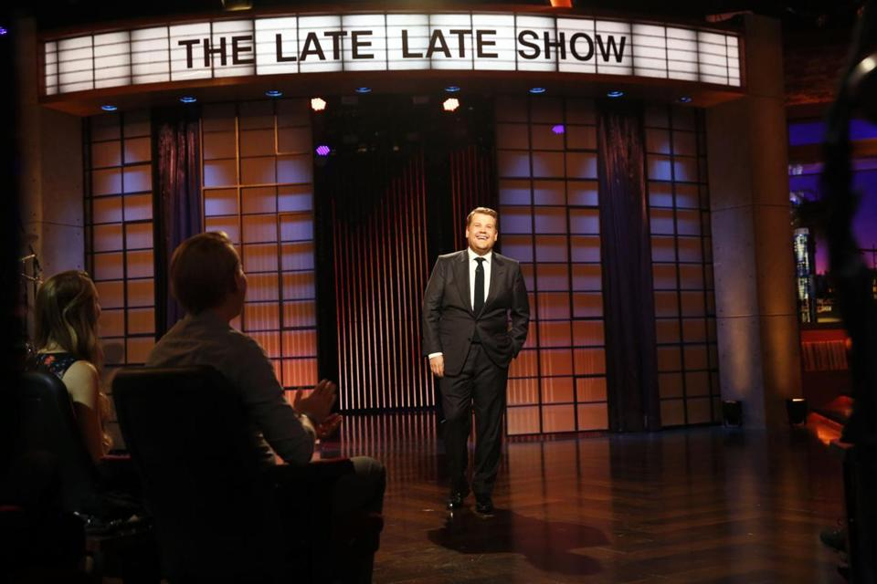 "James Corden stepped on stage for the first episode of ""The Late, Late Show with James Corden."""