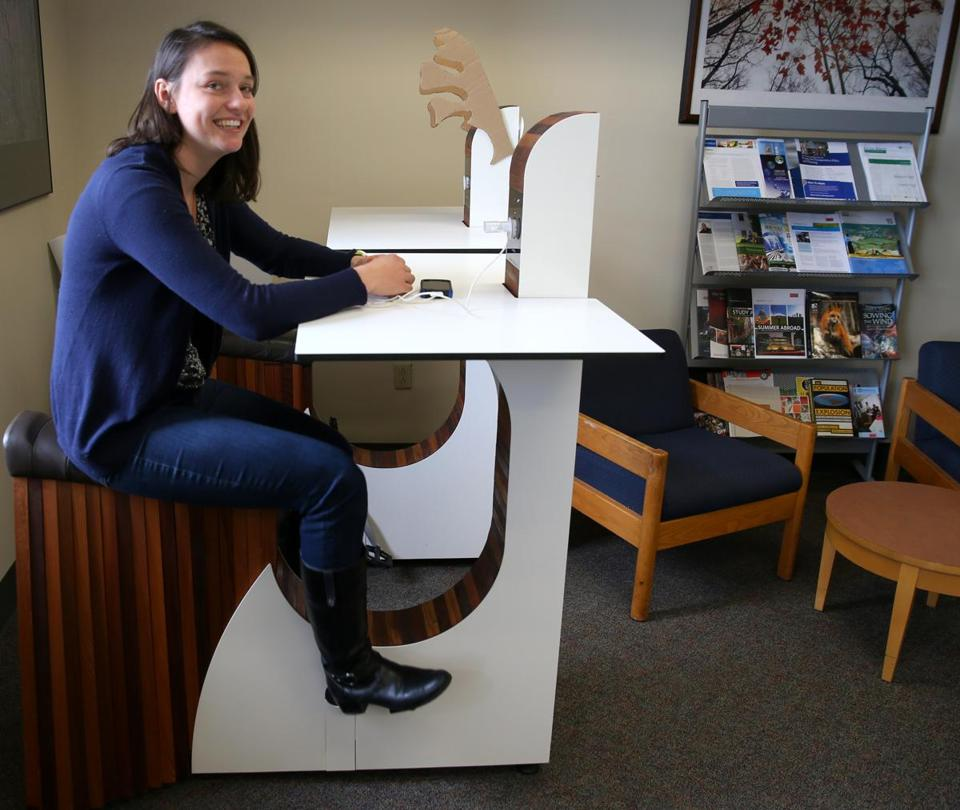 Claire Richer A Senior Was The Force Behind Getting Bike Desks Into Use At