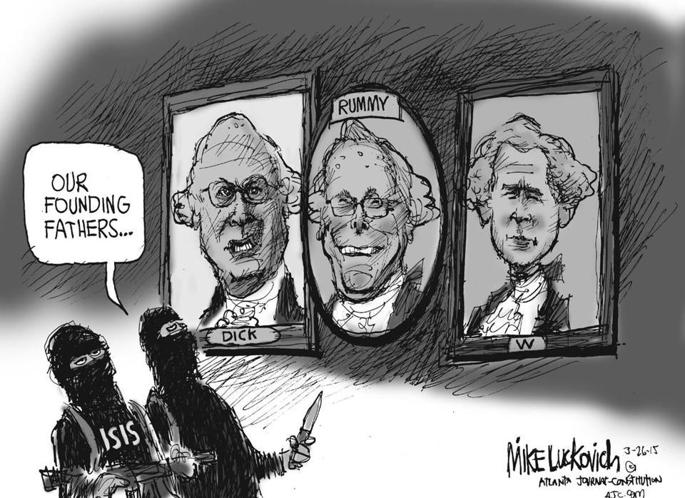 editorial cartoon consequences of george w bush s foreign policy