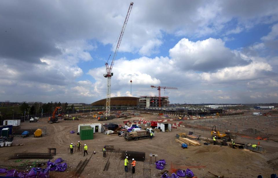 A housing development is rising at London's Olympic park.
