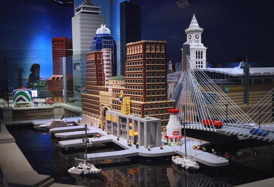 Could a Lego approach solve Boston's housing problems? Pictured: A miniature recreation of Boston at Legoland Discovery Center in Somerville.