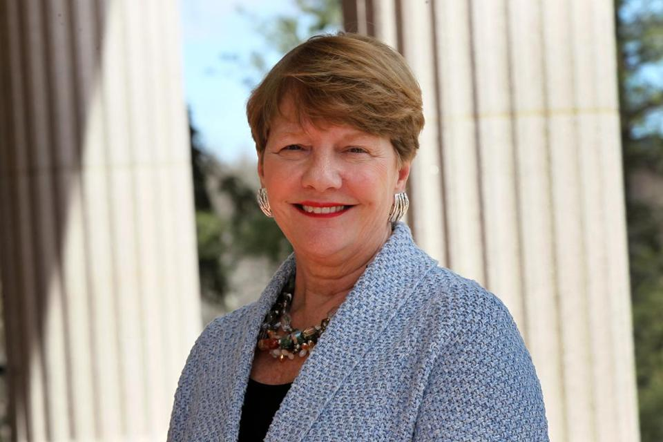 Antoinette Hays, a Waltham native, took over as Regis College president in 2011.