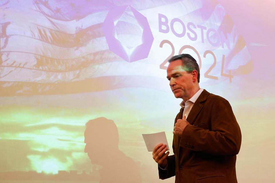 """Is the conversation revolving around the future of the Commonwealth? If it's not, then we're not having the right conversation,"" said John Fish, the chairman of Boston 2024."