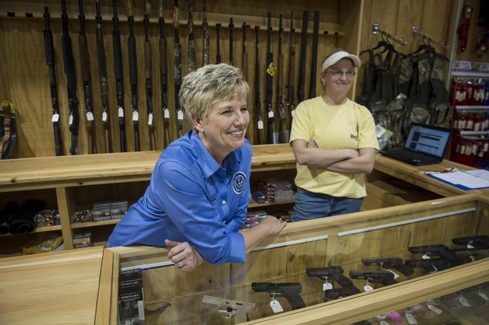 """The right to bear arms is huge around here,"" said store owner Beth Hadley."