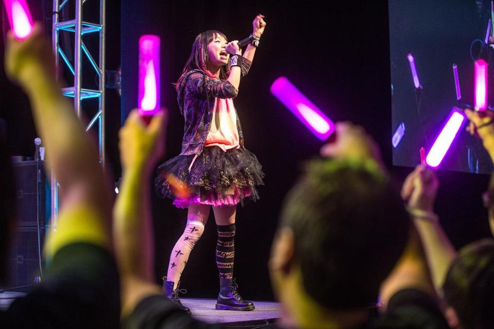 04/03/2015 BOSTON, MA LiSA (cq) performed during Anime Boston 2015 at the Hynes Convention Center (cq) in Boston. (Aram Boghosian for The Boston Globe)