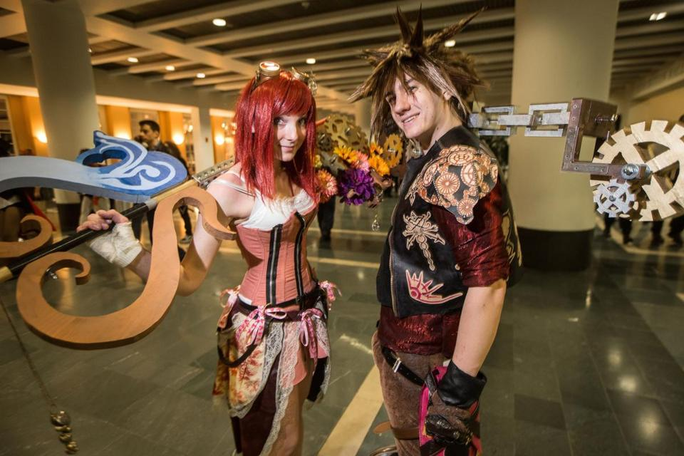 Morgan Berard, 19, and Harrison Braley, 21, were dressed as Steampunk Kairi and Steampunk Sora respectively.