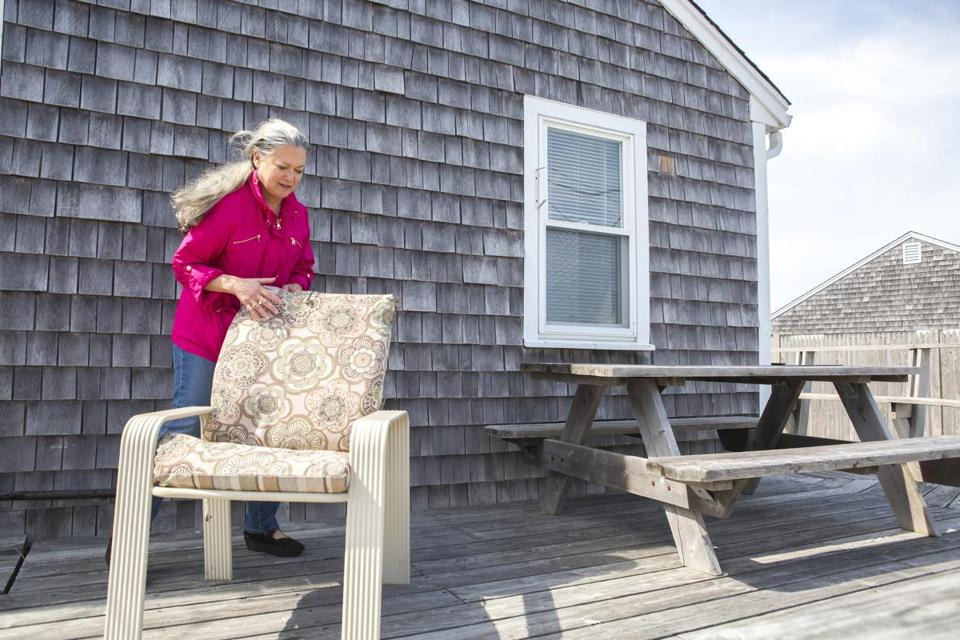 Linda Auerbach prepared her Centerville beach house for the upcoming rental season.