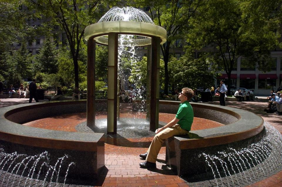 The Leventhal Park is Post Office Square is an oasis of green amid the towers of the Financial District. It's privately managed, right down to the chess boards, lending library, and events. But it's free to sit there any time.