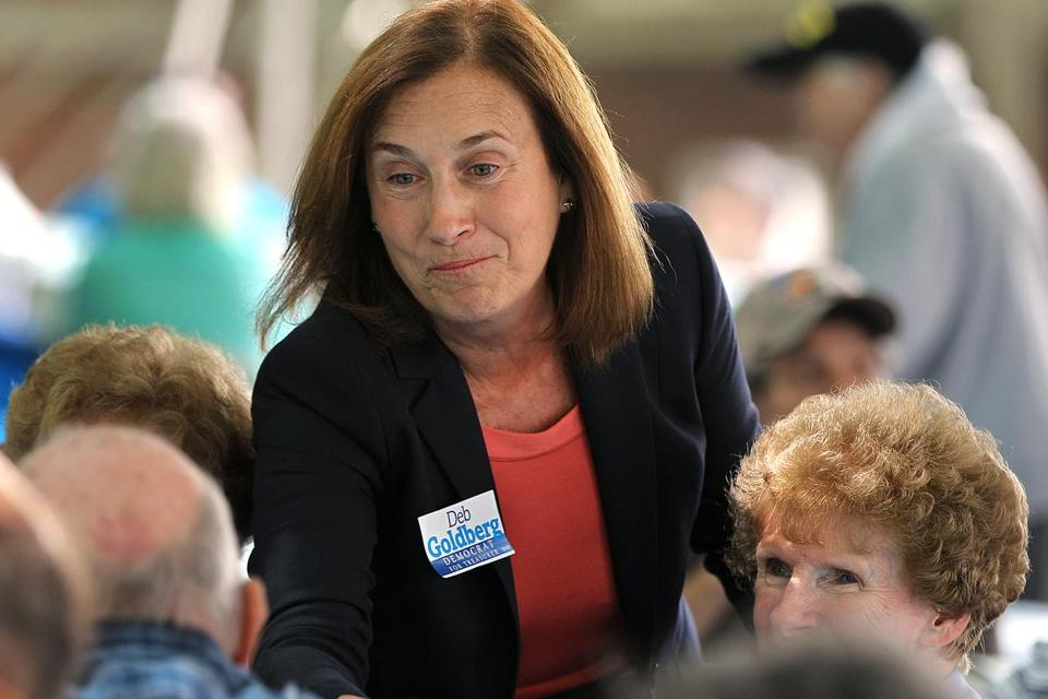 State Treasurer Deb Goldberg told the applicant to inform Adoptions With Love of her job search, her aide said.