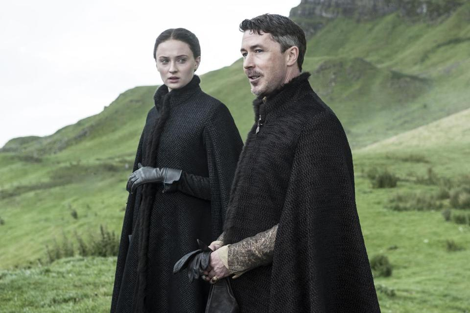 Sophie Turner and Aidan Gillen.