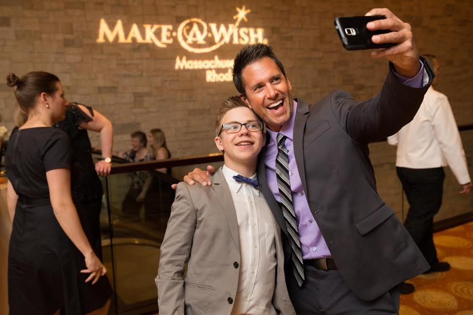 Luke Sclater-Booth and Peter Miller at the Make-A-Wish gala.
