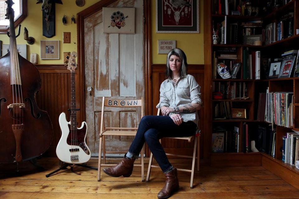 MorganEve Swain in the home she shared with her partner, the late Dave Lamb.