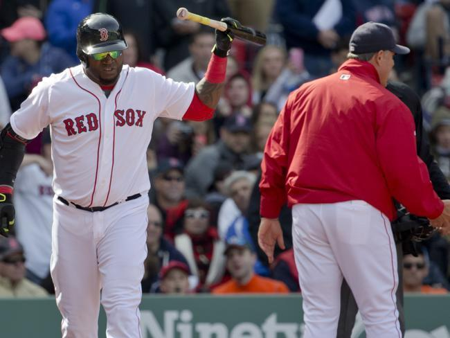 It was the first ejection of the season for David Ortiz.