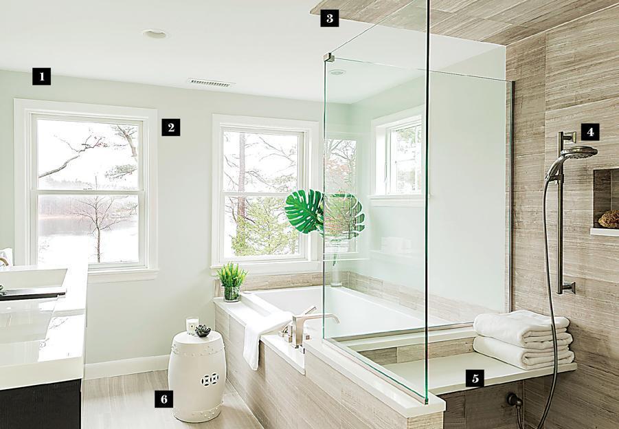 Designing a spa like bathroom the boston globe for How to create a spa like bathroom