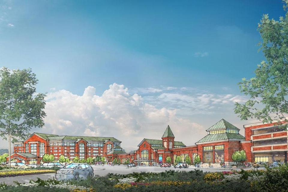 Artist's rendering of proposed casino in Brocton.