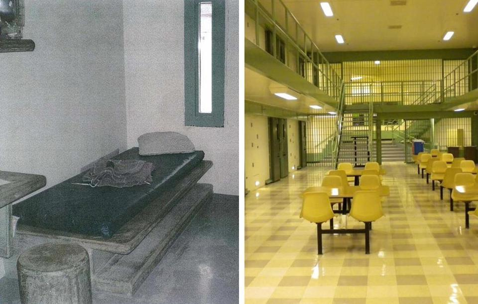 The interior of the US Penitentiary Administrative Maximum Facility is stark, quiet, and very clean.