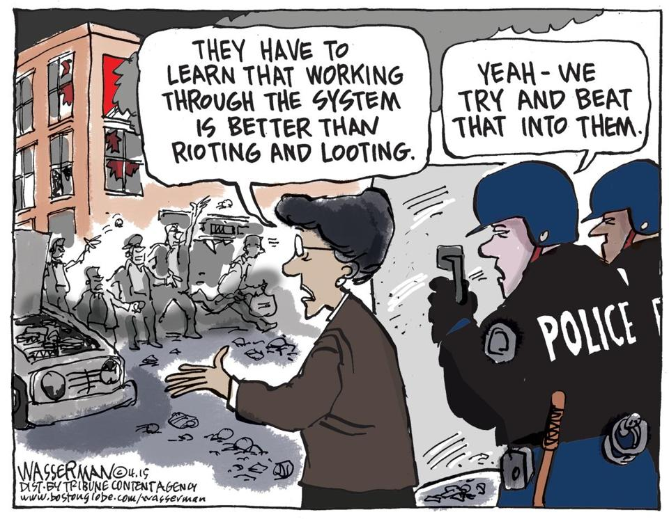 Image result for rioting cartoons