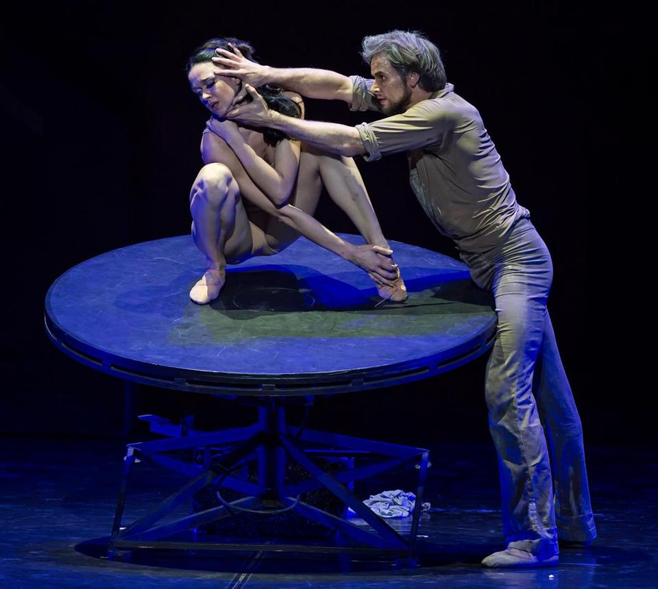 "Lyubov Andreyeva (left) and Oleg Gabyshev in Boris Eifman's ""Rodin."""