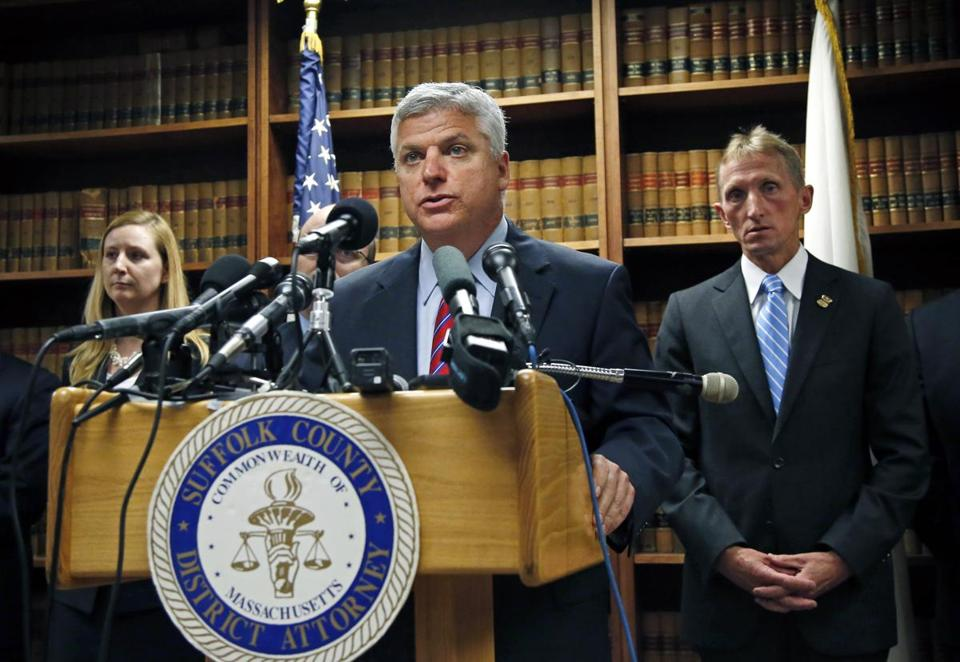 Suffolk DA Daniel F. Conley's comments came Friday during an address to the American College of Physicians in Boston.