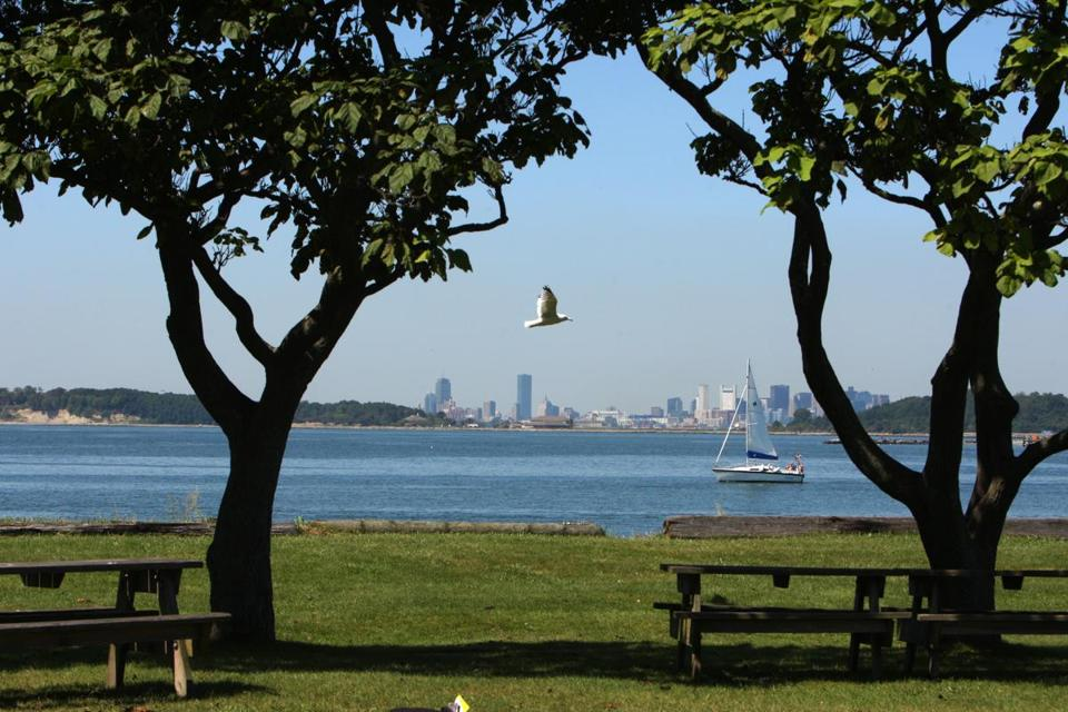 Georges Island (pictured) and the other Boston Harbor Islands are accessible via ferry and offer spots to get away from it all.