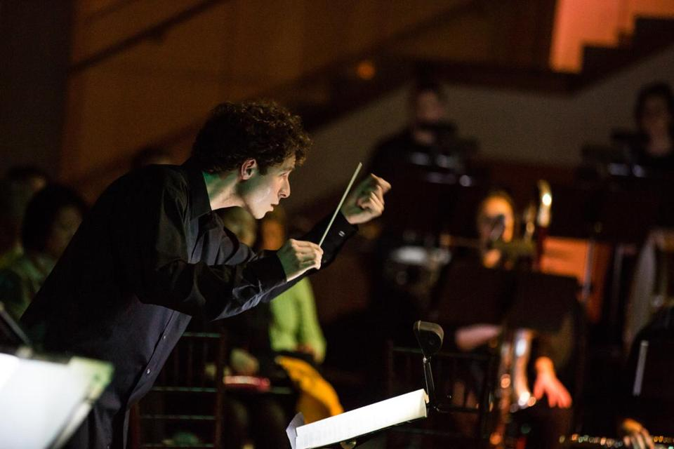 Matthew Aucoin conducted a performance at Salem's Peabody Essex Museum, where he is the composer in residence.