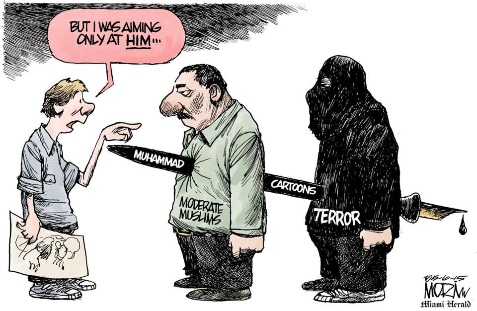 Editorial Cartoon Drawing Mohammed The Boston Globe