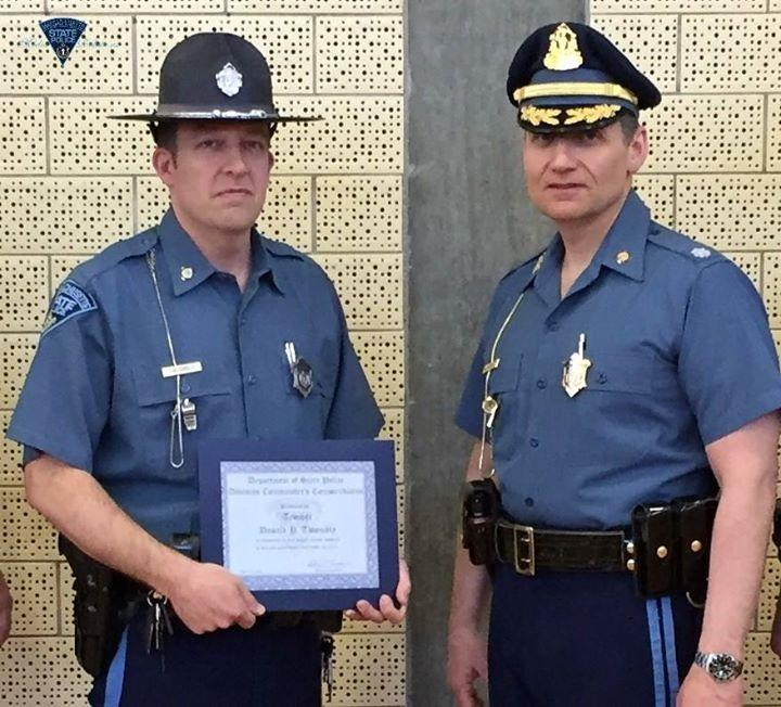 trooper gets award and makes another save later in the day the boston globe. Black Bedroom Furniture Sets. Home Design Ideas