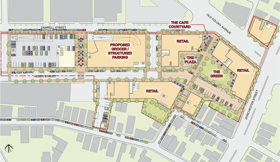 12andrew - Map of a proposed development in Andrew Square at 235 Old Colony Avenue in South Boston. (Prellwitz Chilinski Associates)