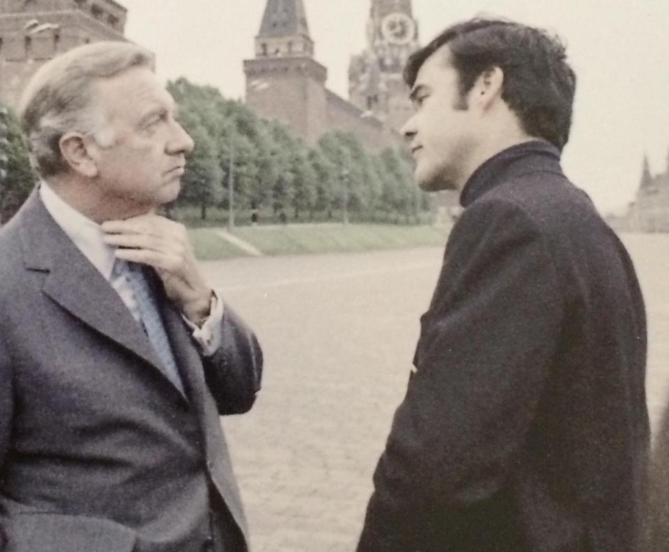 Walter Cronkite (left) and Ed Fouhy went to Moscow in 1972 to cover the summit with Nixon and Leonid Brezhnev.