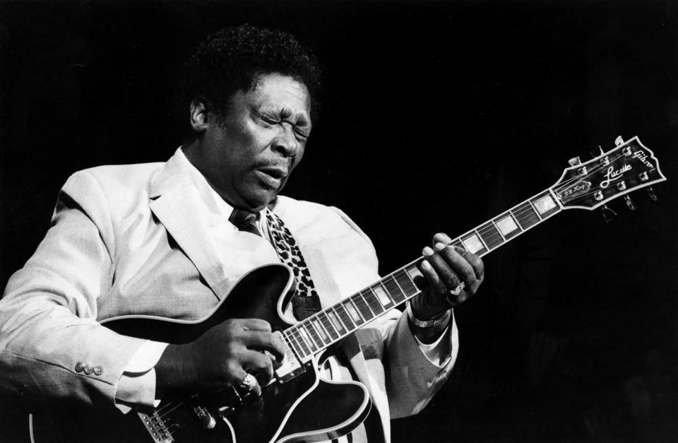 B.B. King performed in October 1985 at the Berklee Performance Center.
