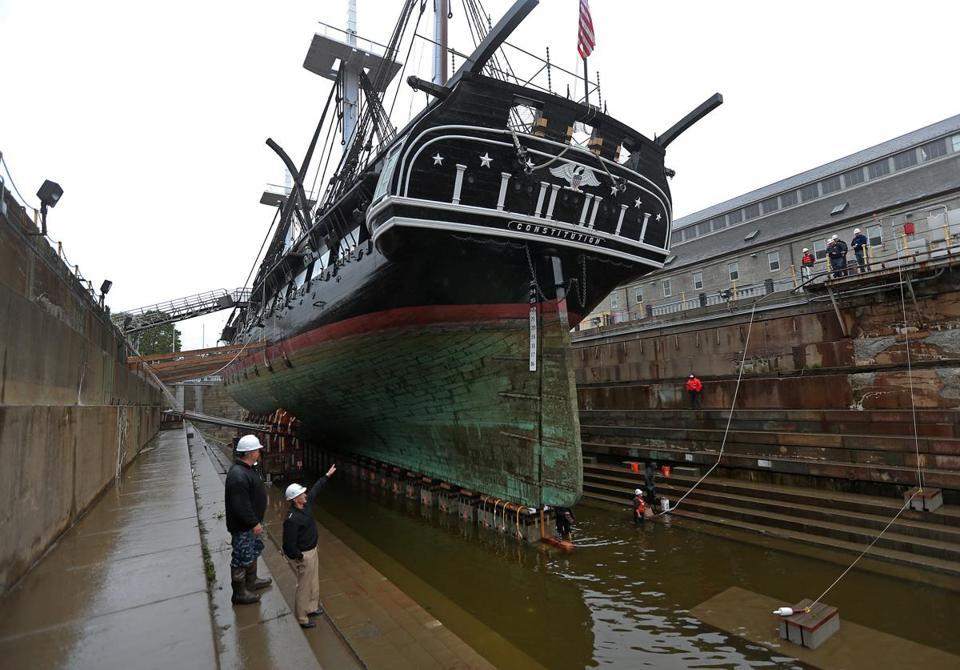 Uss Constitution Enters Dry Dock To Begin 3 Year
