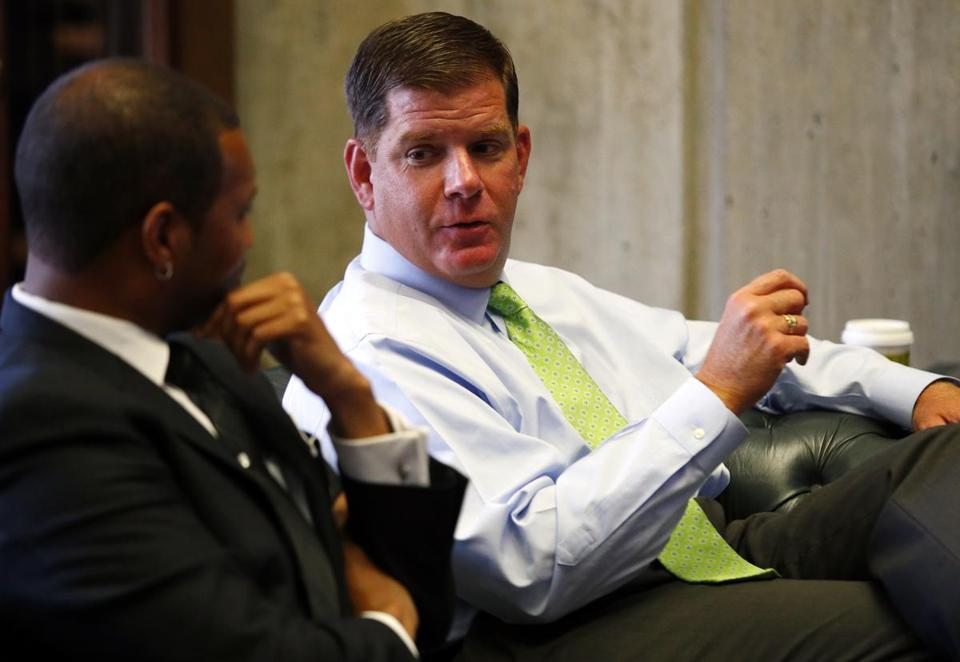 Mayor Marty Walsh sought to tamp down the alarm Thursday, saying he would not allow the city to borrow money to build a stadium.