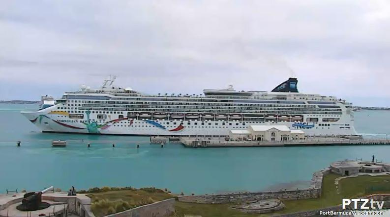 Grounded Cruise Ship Bound For Boston Is Docked For Inspections In - Bermuda cruise ship